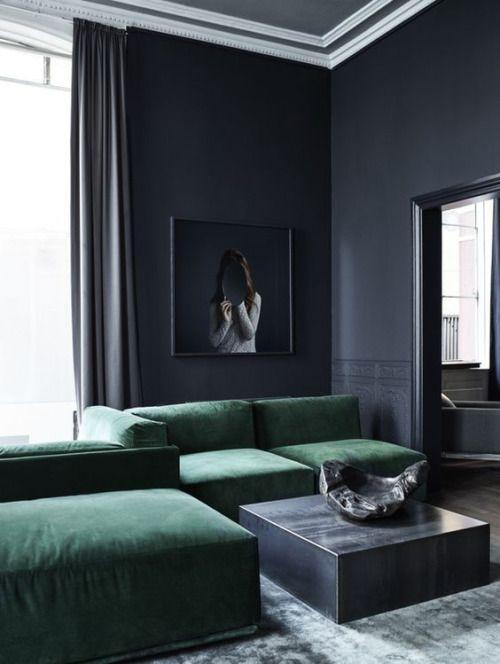 The Design Walker • Emerald Green Sofa by Rue Verte