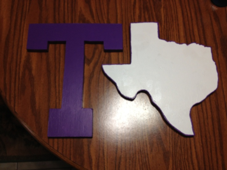 Purple T & Texas Plaques