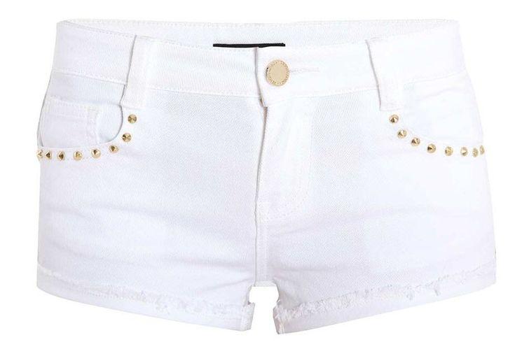 Mini-short en jean clouté Morgan prix promo Boutique Morgan 45,00 € TTC