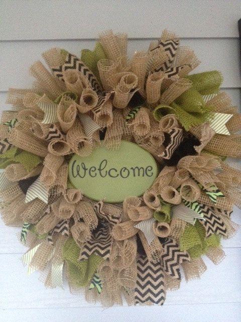 Burlap Wreath by GrantsBoutique on Etsy, $55.00