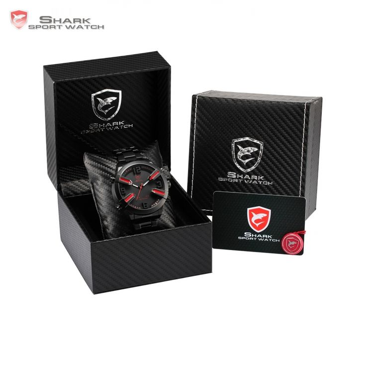 (33.47$)  Buy here - http://ai5hx.worlditems.win/all/product.php?id=32759643263 - Luxury Leather Gift Box Dogfish Shark Sport Watch Auto Day Alarm LED Black Steel Strap Digital Mens Quartz Wristwatch /SH320-324