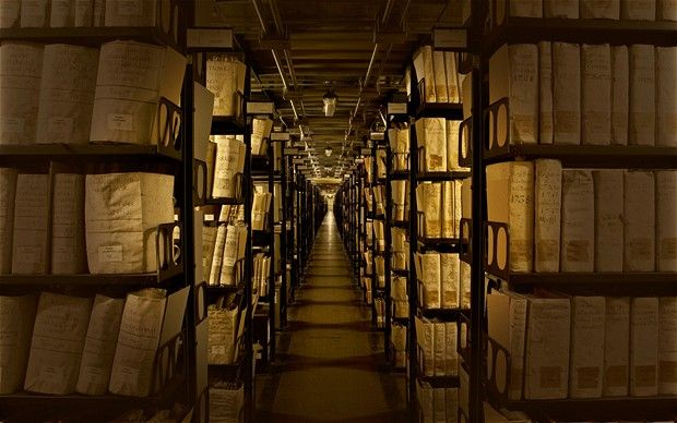 I wish they'd quit hoarding!!!  Vatican Secret Archives in Rome which relate to Henry VIII, Anne Boleyn, Galileo, Martin Luther, Mary Queen of Scots, the Borgias, and more. A Who's Who of History.