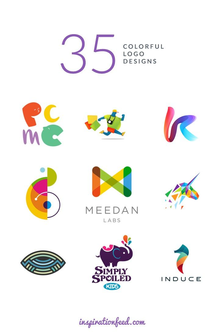 35 stunning examples of colorful logo designs httpinspirationfeedcominspiration