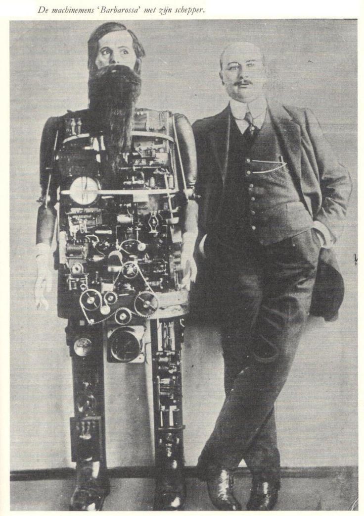 Bearded Robot - 1909 – Occultus / Barbarossa ( Early Futurism / Vintage Photography / VIntage Robot )