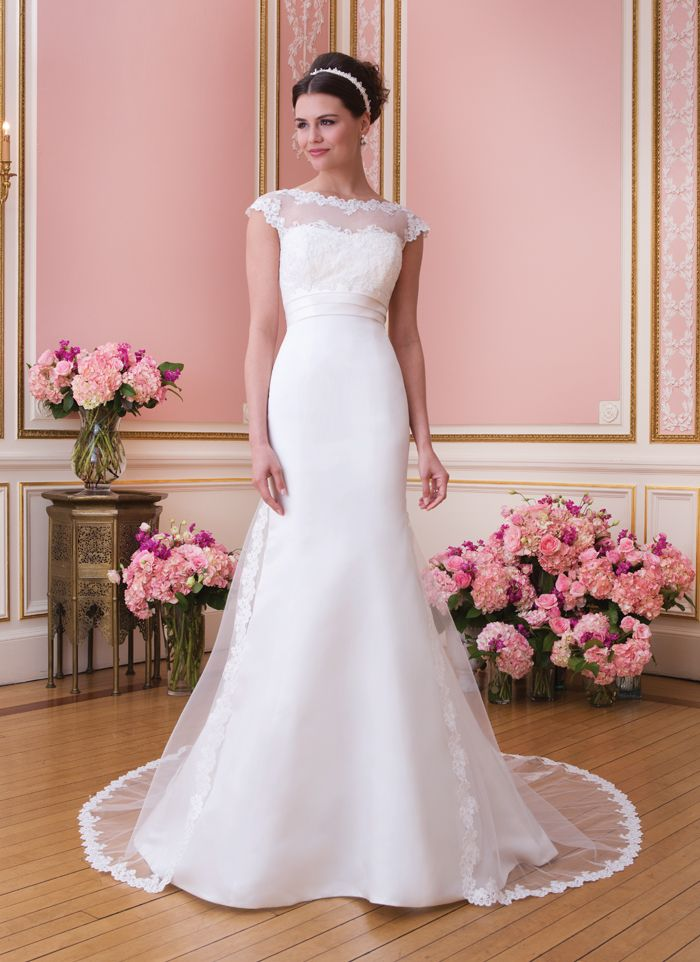 38 best Satin/taffeta/dupioni wedding dresses with lace details ...