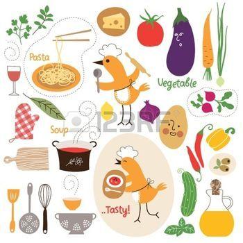 tomatensoep%3A+gezond+eten%2C+voedsel+illustraties+collectie