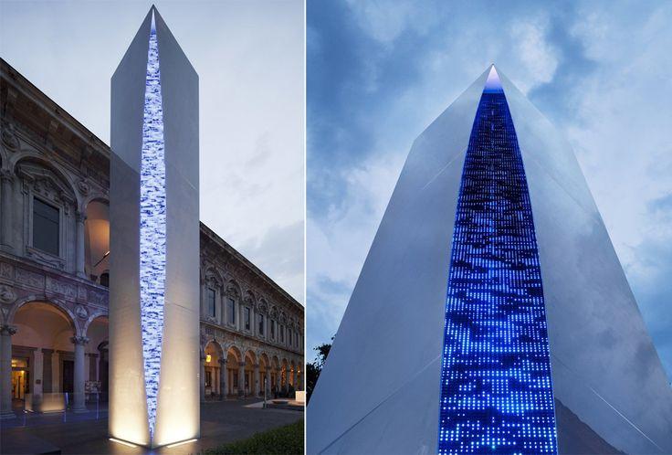 Quattro Punti per una Torre: Quattro Punti, Una Torres, Torre Installation, Obelisk, Torres Installations