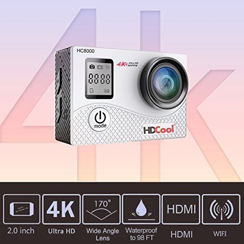 4K Action Camera Sports Activities 16MP Wifi Waterproof Wide Angle Lens Xmas NEW #4KActionCameraSportsActivities