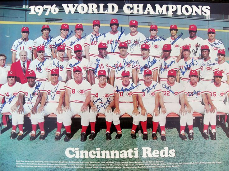 1976 World Champions Big Red Machine...Cincinnati Reds
