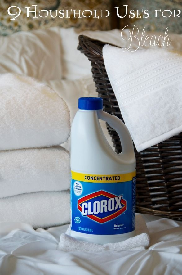 9 Household Uses for Clorox Bleach (beyond the laundry room). LOVE using tip 2!