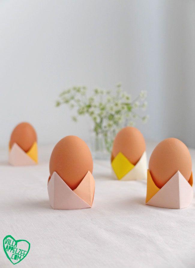 For English, please scroll down Perfect voor Pasen, maar natuurlijk ook voor al die andere ontbijt- of brunchtafels die wel wat kleur en eitjesfun kunnen gebruiken: 3 x snelle DIY dopjesideeën.... * O