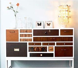 Hur uunderbar är inte den här!? ✨Ska börja samla på mig byrålådor under sommarens loppisar - kanske kan ha en sån här snygg byrå i ... 80-årsåldern  // In love with this piece of furniture - I need my own!! Inspo from Pinterest ✨