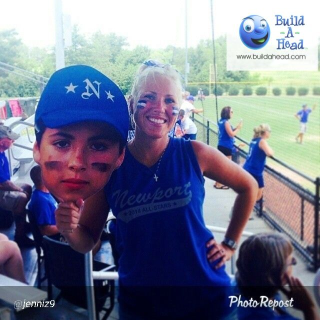 Hey Team moms! Upload a photo and ships next day. Little League big head cutouts for your games. Great for the entire team. Any phone picture works and inexpensive!