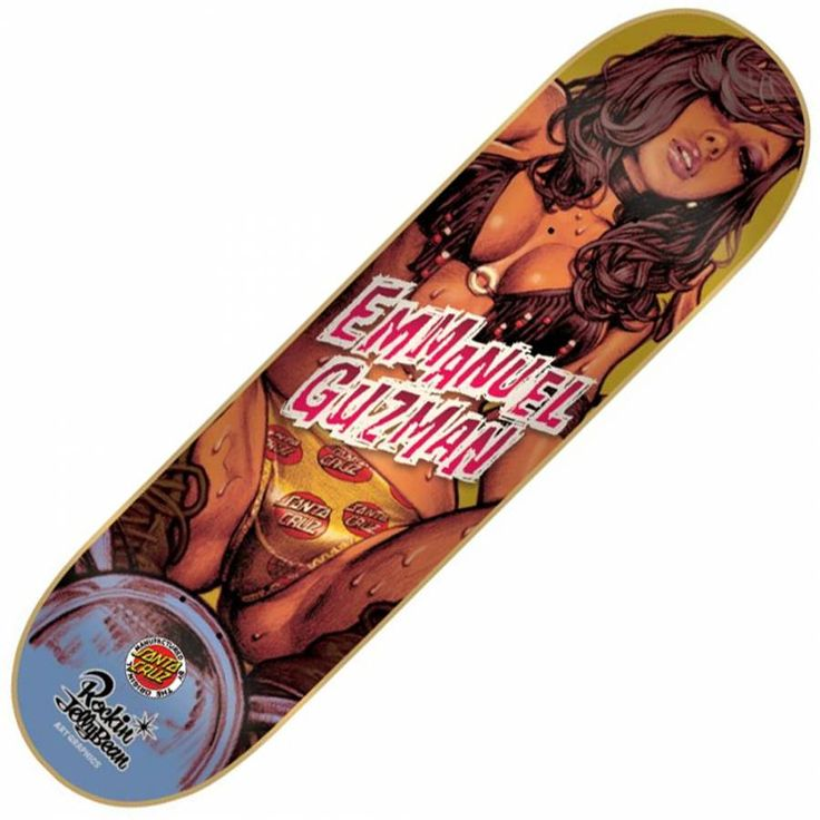 Santa Cruz Skateboards Santa Cruz Emmanual Guzman Jellybean Skateboard Deck 8.25''