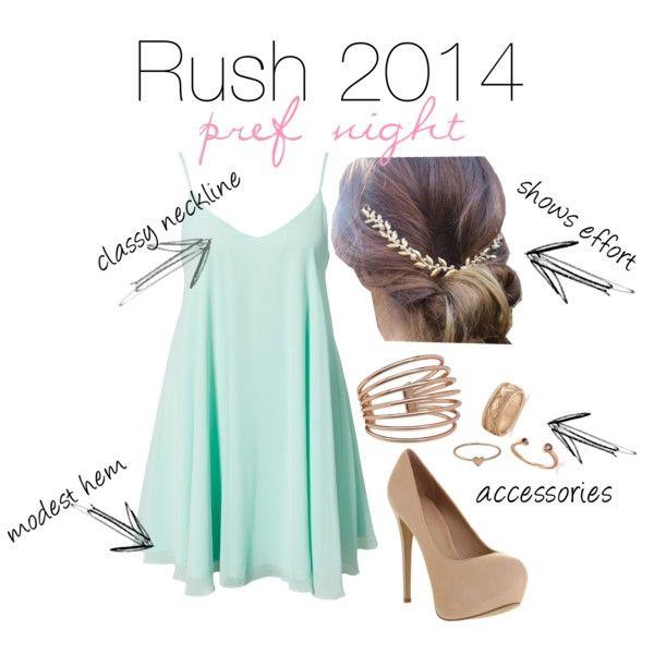 Sorority rush outfit - pref night