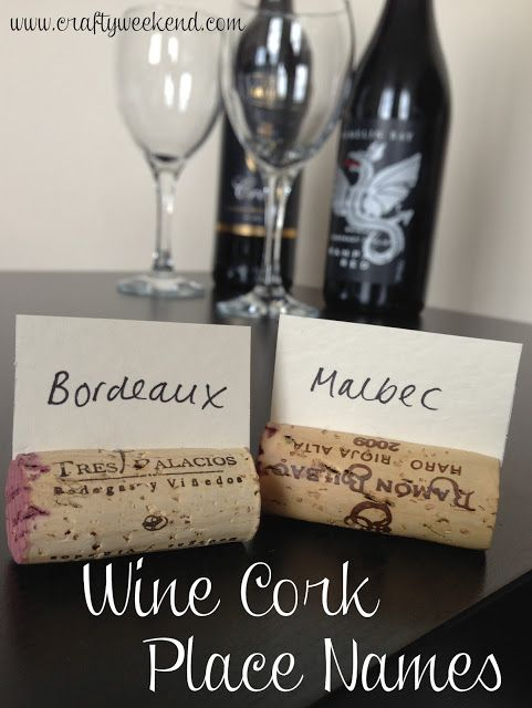 Wedding place name cards, dinner party place settings or wine tasting labels