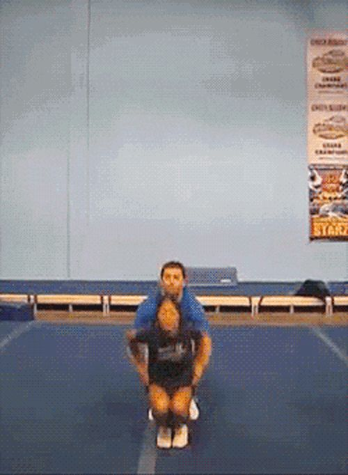 This guy steps in no matter what the challenge. | 13 Mighty Spirited Cheer Stunts