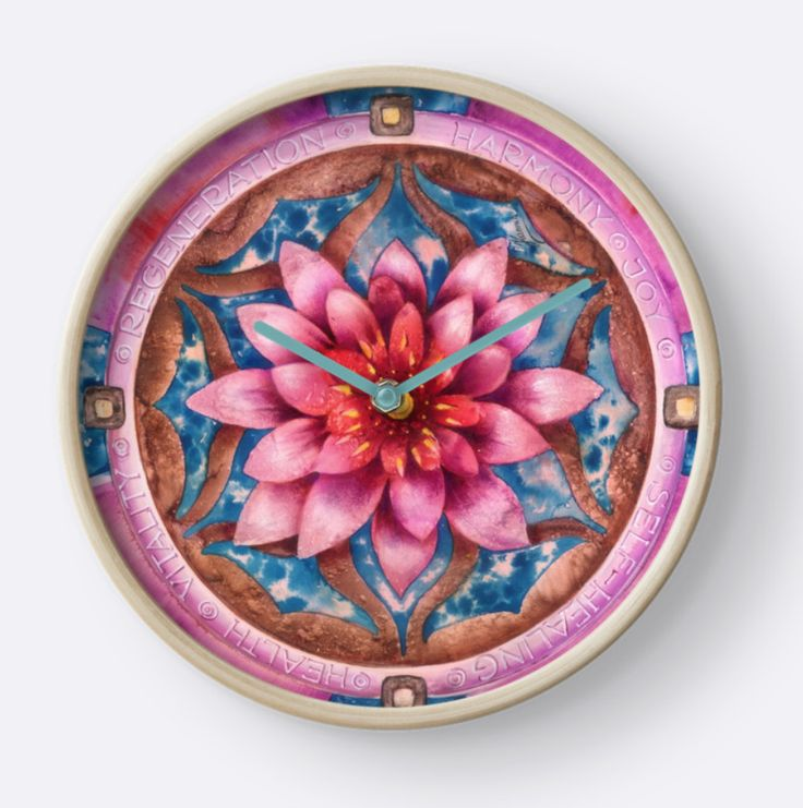 Mandala Of Health CLOCK