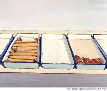 Wayne Thiebaud  Delicatessen Trays, 1961