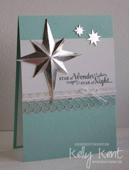 CASEing the Catty #96 - Big Shot. Starlight Thinlits & Star of Light stamp…