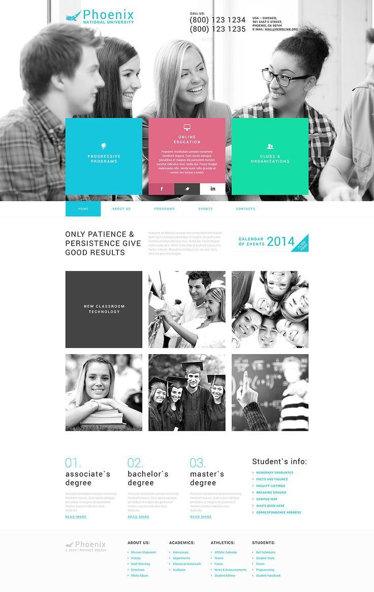 22 best Website design images on Pinterest | Wordpress template ...