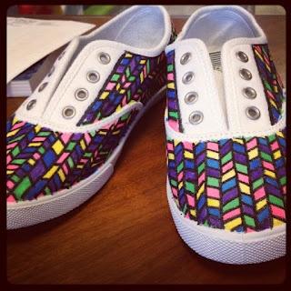 Canvas Sneaker DIY. ... Sara! This one is cute toooo!
