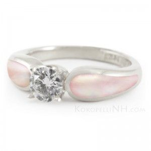 Awesome Pearl Diamond Wedding Ring With Petal Radiance