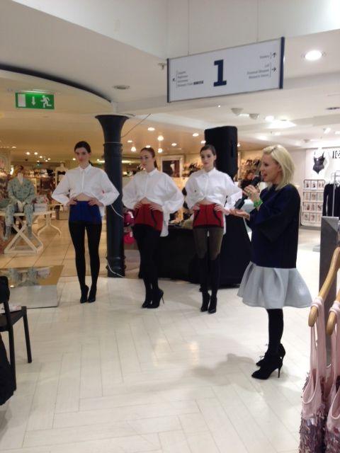 Joanne launching her new hosiery range: JOANNE HYNES X Pretty Polly in Arnotts, Dublin.