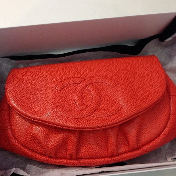 Just in Chanel coral moon flap brand new runway $2200 #chanel - @remixclothing- #webstagram