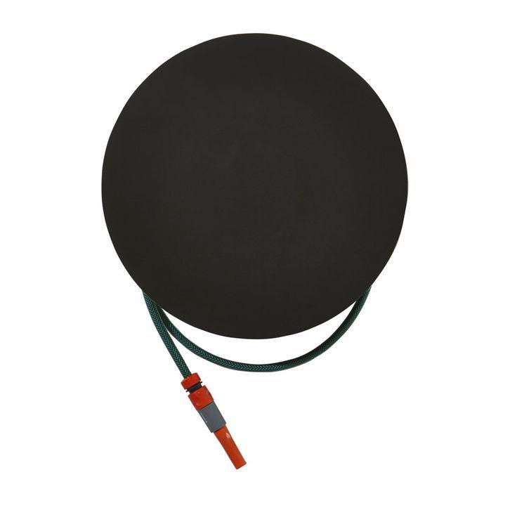 Black Dial Hose Hanger   Powder Coat Steel   Gardenware   Hose Reel Outdoor Accessories