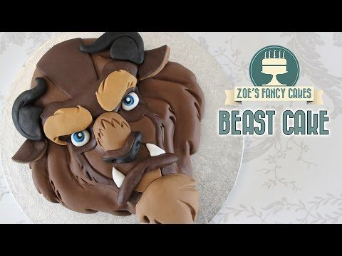 Beast cake Beauty and the Beast Disney cakes - YouTube