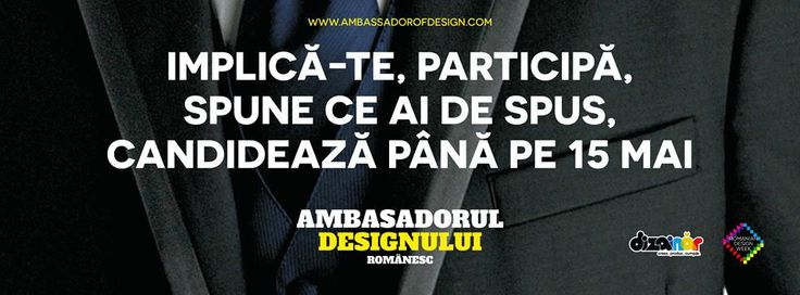 Pentru a candida la funcția de Ambasador al Designului Românesc, trebuie în primul rând să ai activitate relevantă în domeniu. Sunt eligibile următoarele ramuri ale designului: design grafic, design de produs, design de modă, design de interior.