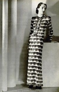 Robe de dîner Balenciaga, L'Officiel 1938