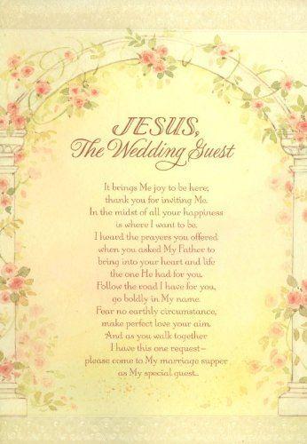 103 best christian wedding images on pinterest floral arrangements jesus the wedding guest wedding card christian wedding card with scripture m4hsunfo