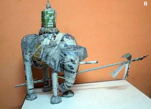 Paper sculpture -27 - Cost   20, 000/- Rupees