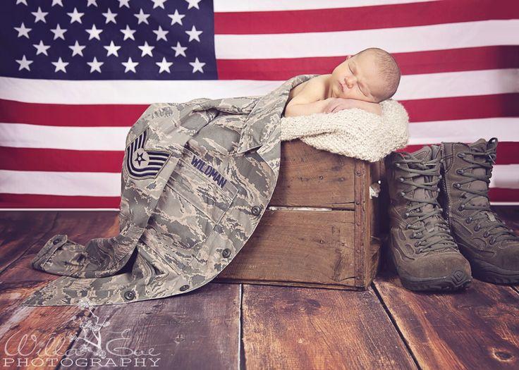 Military newborn Air force patriotic