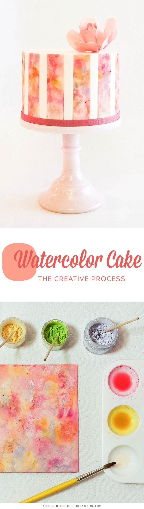 How to make a Watercolor Cake | by Allison Kelleher for TheCakeBlog.com
