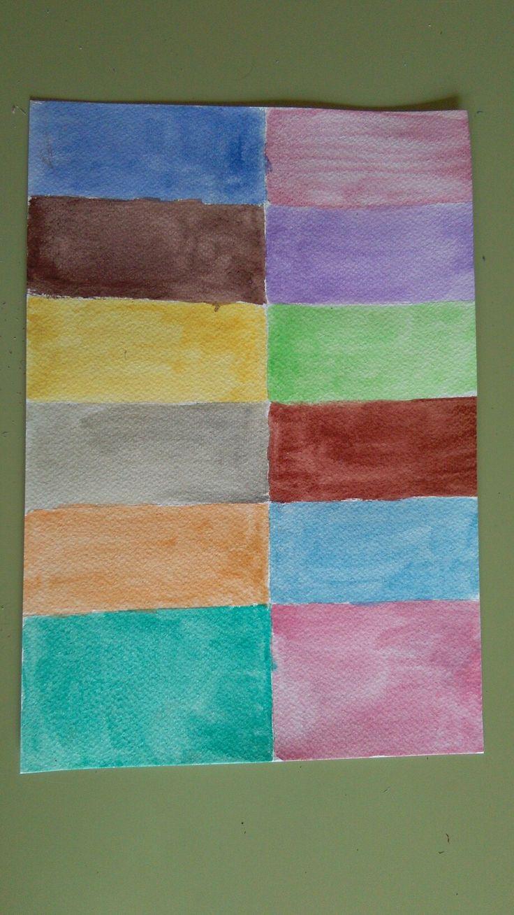 Dibujo carta de colores