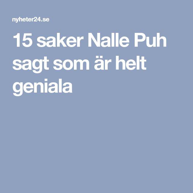 15 saker Nalle Puh sagt som är helt geniala