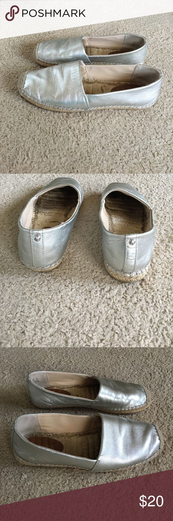 Sam Edelman silver espadrilles Gently worn in good condition. Size 9.5. Shows slight wear on outside. Some very minor scuffs on silver. No box. Priced to sell! Sam Edelman Shoes Espadrilles