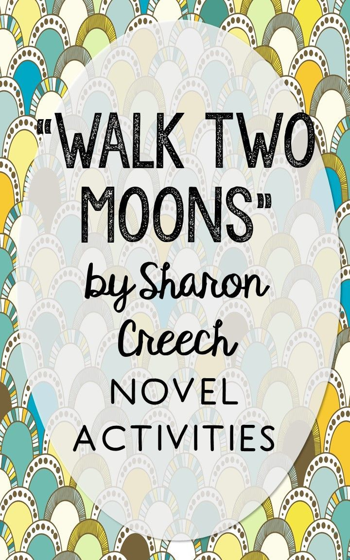 Walk Two Moons by Sharon Creech. This NO-PREP resource is perfect if you're looking for novel activities that are engaging and demonstrate comprehension WITHOUT multiple choice tests! This unit includes vocabulary terms, poetry, author biography research, themes, character traits, one-sentence chapter summaries, and note taking activities. You'll also find an author quote poster, a tri-fold bookmark, and character/vocabulary wall cards (plus EDITABLE cards!).