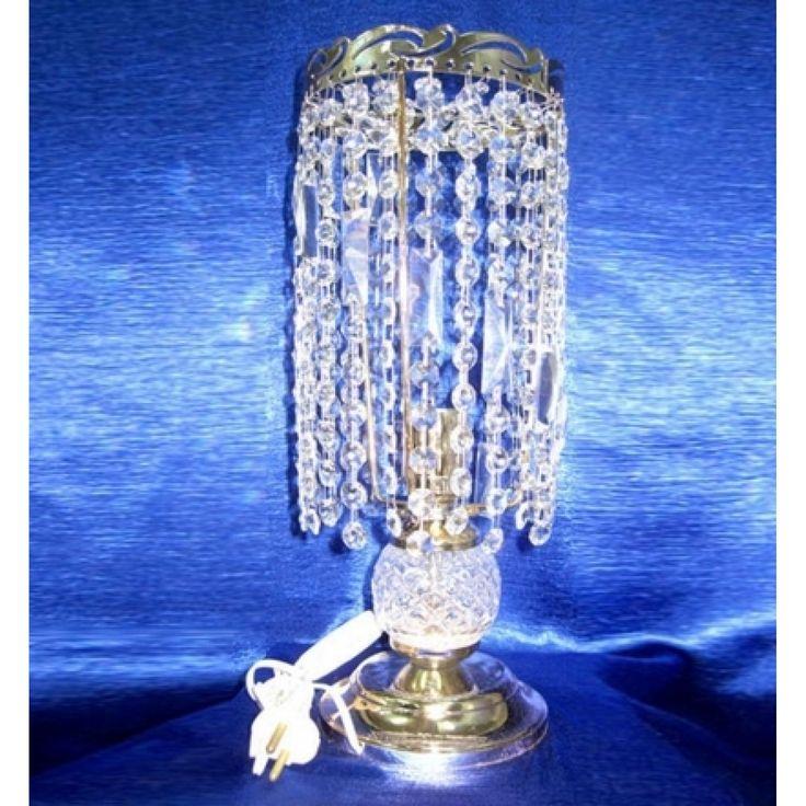 Купить настольную лампу хрустальную Анжелика 2 Ёлочка прозрачная в интернет-магазине Люкс Свет +7 (4922) 60-02-05, низкая цена от производителя из Гусь-Хрустального, фото, отзывы
