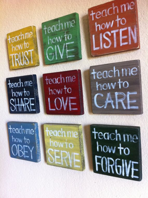 Christian Wall Art  SET of 9  Teach Me Wood by graceforgrace, $126.00