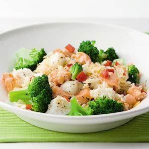 Gebakken rijst met gerookte zalm en broccoli - Recept - Allerhande - Albert Heijn