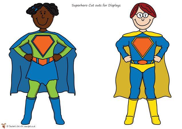 Teacher's Pet - Mini Superhero Cut Outs - FREE Classroom Display Resource - EYFS, KS1, KS2, superheroes, super, hero, heroes