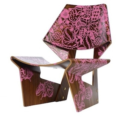 Pink Jalk Project GJ Chair designed by Emily Summers of Emily Summers Design  #PinkProject