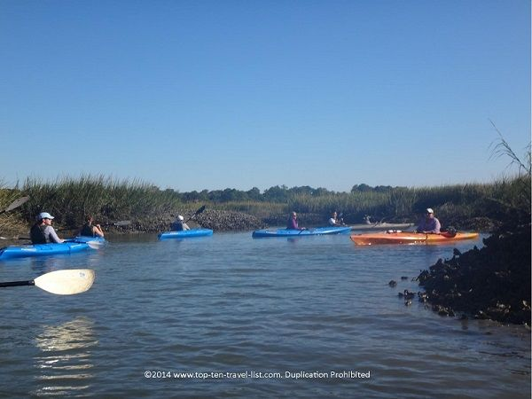 A fun #kayak tour is a great way to explore the beautiful natural surroundings of Hilton Head Island, #SouthCarolina.