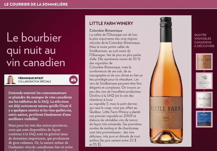 Le bourbier qui nuit au vin canadien - La Presse+