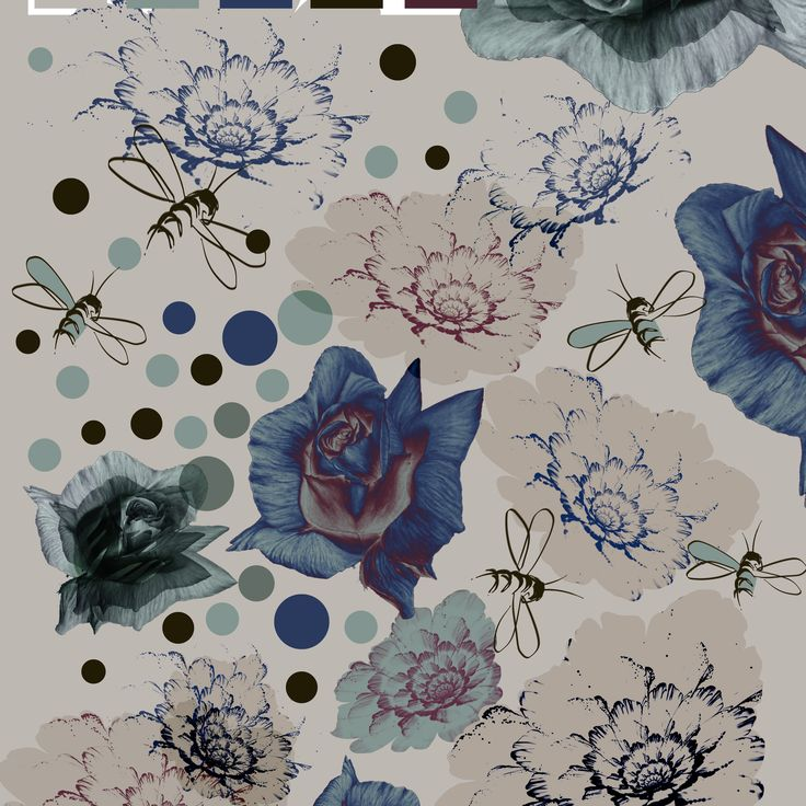 textile pattern bees