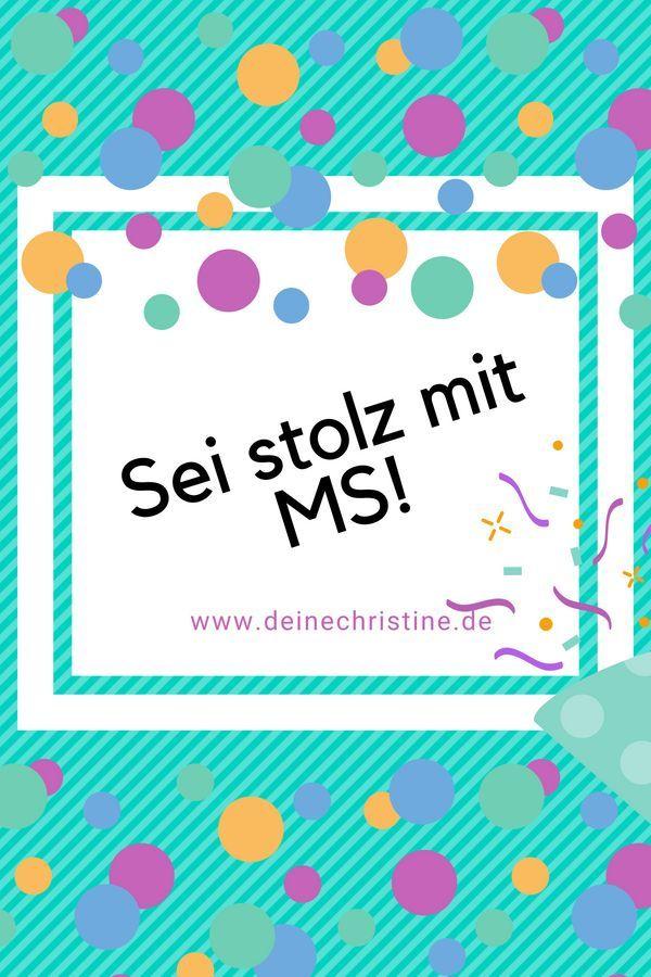 Stolz Mit Ms Ms Multiple Sklerose Sklerose Und Stolz